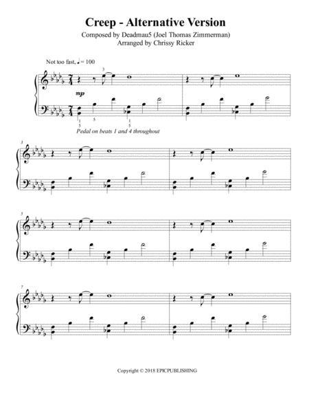 Creep Alternative Version - late intermediate piano