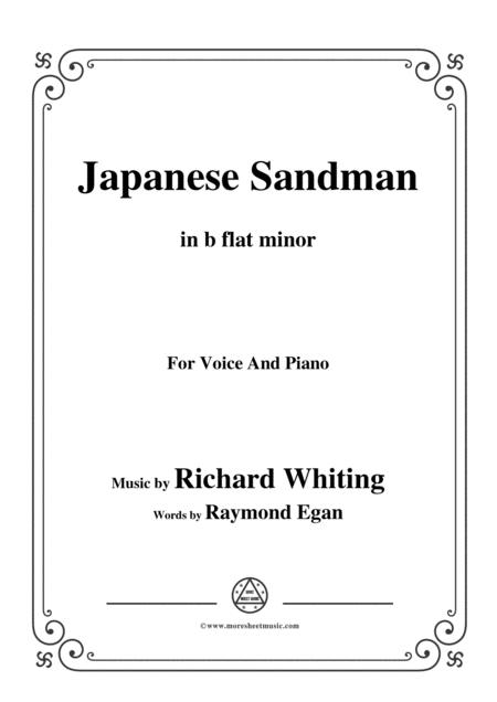Richard Whiting-Japanese Sandman,in b flat minor,for Voice and Piano