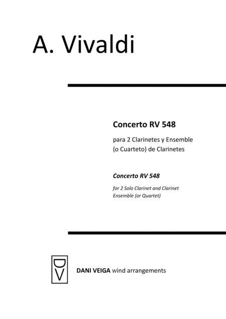 Vivaldi - Concerto RV 548 (2 Clarinets with Clarinet Choir)