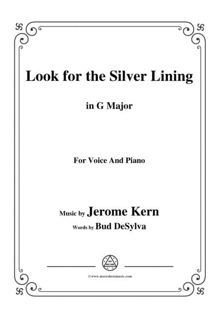 Jerome Kern-Look for the Silver Lining,in G Major,for Voice&Piano