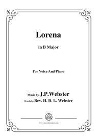 J. P. Webster-Lorena,in B Major,for Voice and Piano