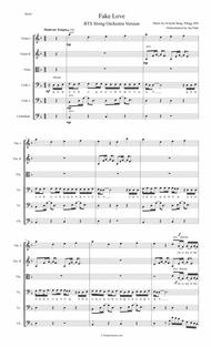 Fake Love By Digital Sheet Music For Violinviolacello