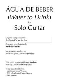 Água De Beber/Water to Drink - Guitar Solo