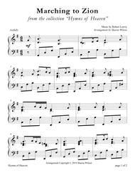 Marching to Zion (LARGE PRINT Piano Solo)