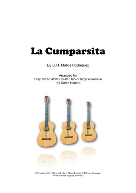 La Cumparsita - 3 guitars/large ensemble