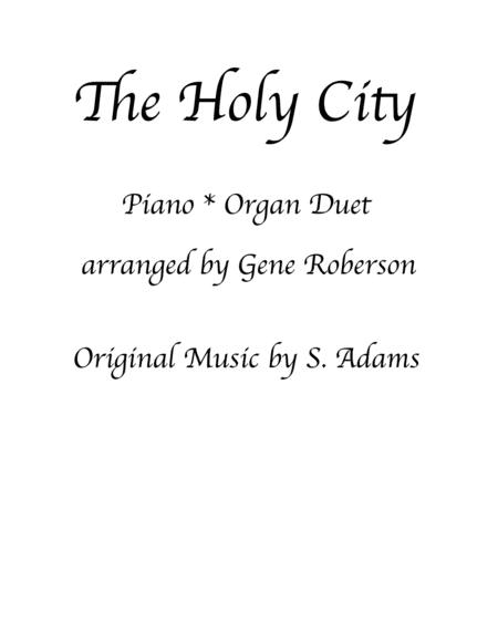 The Holy City Piano Organ Duet Advanced