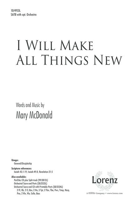 I Will Make All Things New