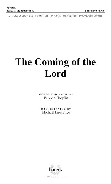 The Coming of the Lord - Orchestral Score and Parts