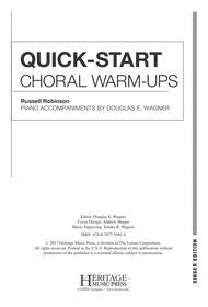 Quick-Start Choral Warm-Ups - Singer Edition