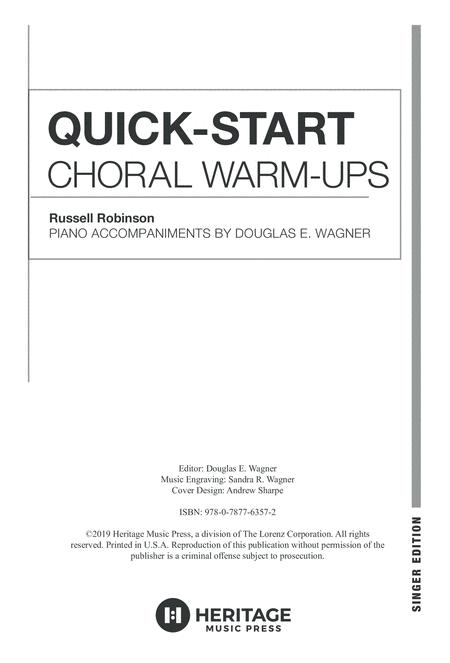 Quick-Start Choral Warm-Ups - Singer Edition for Treble Voices