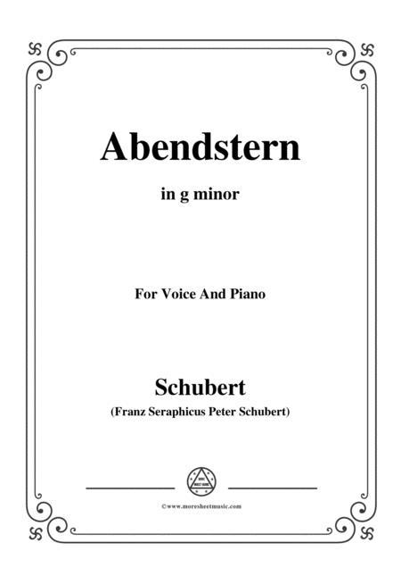 Schubert-Abendstern,in g minor,for Voice&Piano