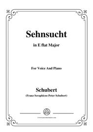 Schubert-Sehnsucht,in E flat Major,for Voice&Piano