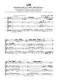 AIR, by J. S. Bach, BWV 1068 for SATB choir a cappella
