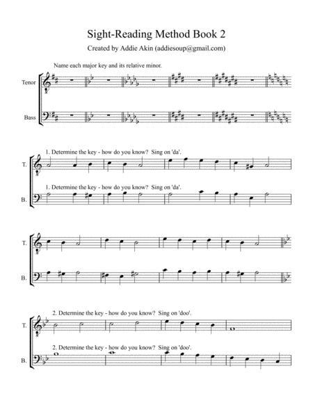 men's choir sight-reading, book 2 by addie akin - digital sheet music  for - download & print s0.514893 | sheet music plus  sheet music plus