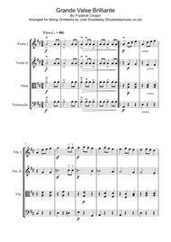 Chopin: Grande Valse Brilliante for String Quartet - Score and Parts