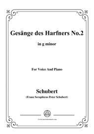 Schubert-Gesänge des Harfners,Op.12 No.2,in g minor,for Voice&Piano