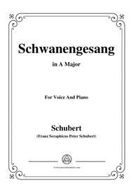 Schubert-Schwanengesang,Op.23 No.3,in A Major,for Voice&Piano