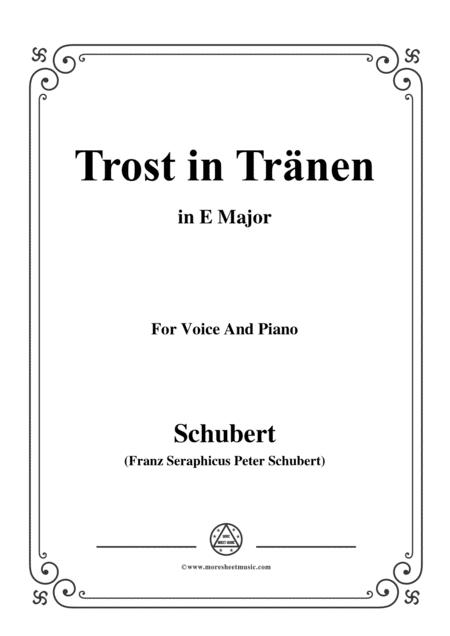 Schubert-Trost in Tränen,in E Major,for Voice&Piano