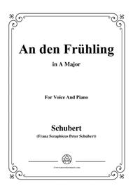 Schubert-An den Frühling,in A Major,for Voice&Piano