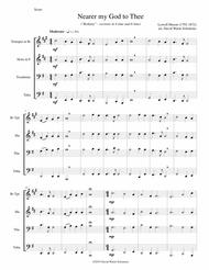 Nearer my God to Thee (Bethany) for brass quartet