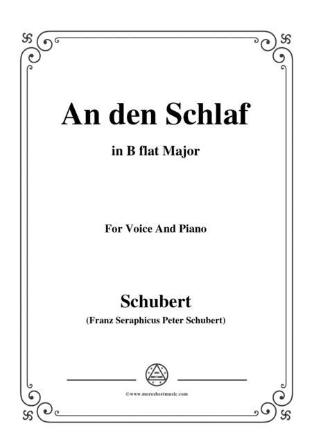 Schubert-An den Schlaf,in B flat Major,for Voice&Piano