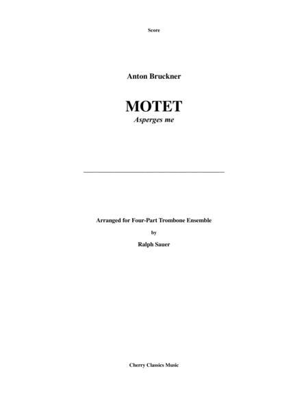 Motet - Asperges me for 4-part Trombone Quartet Ensemble
