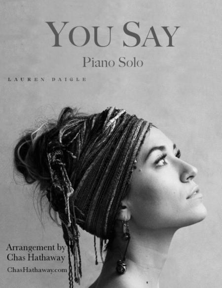 You Say, by Lauren Daigle: Piano Solo