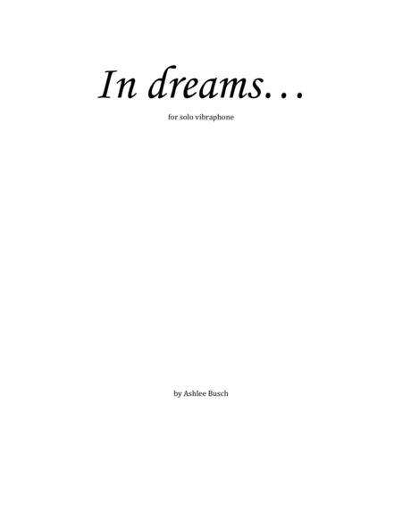 In dreams...