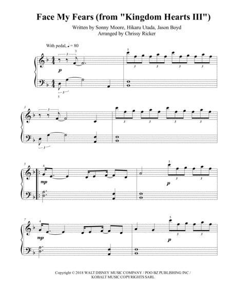 Face My Fears (Kingdom Hearts III) - easy piano