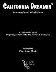 California Dreamin' (Intermediate Piano)