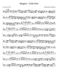 Happier - Cello Solo