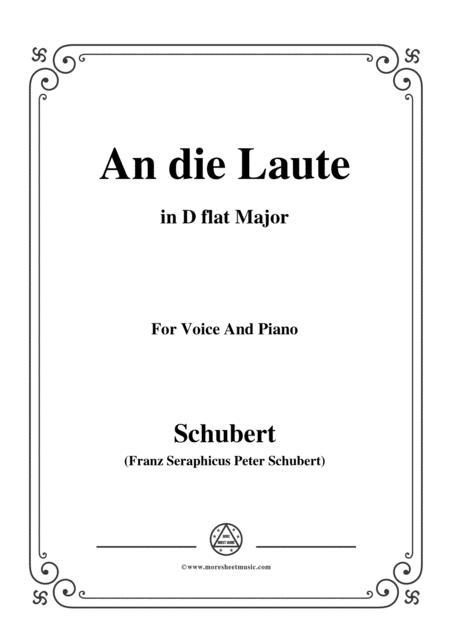 Schubert-An die Laute,Op.81 No.2,in D flat Major,for Voice&Piano