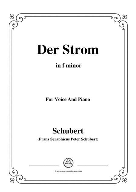 Schubert-Der Strom,in f minor,for Voice&Piano