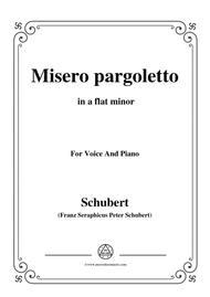 Schubert-Misero pargoletto,in a flat minor,for Voice&Piano