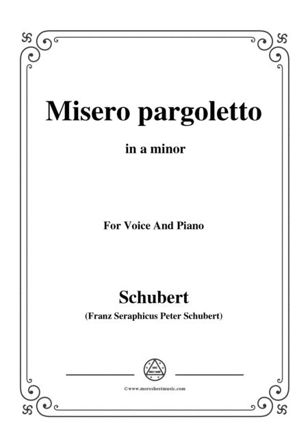 Schubert-Misero pargoletto,in a minor,for Voice&Piano