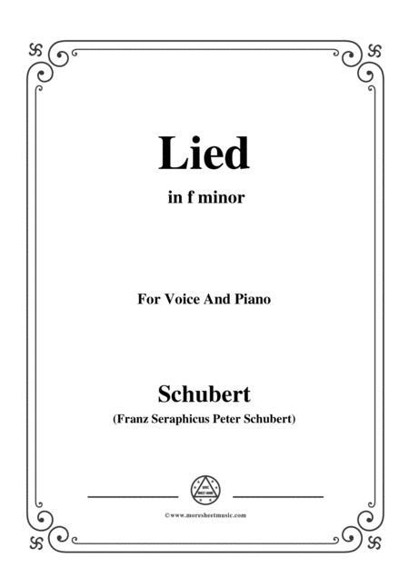 Schubert-Lied(Mutter geht durch ihre Kammern),D.373,in f minor,for Voice&Piano