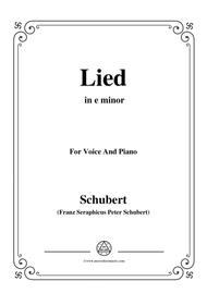 Schubert-Lied(Mutter geht durch ihre Kammern),D.373,in e minor,for Voice&Piano
