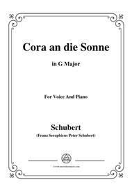 Schubert-Cora an die Sonne,in G Major,for Voice&Piano