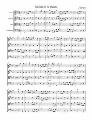 Charpentier: Prelude To Te Deum for String Quartet - Score and Parts
