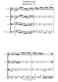 Bach: Jaucsett Gott Cantata 51 for String Quartet - Score and Parts