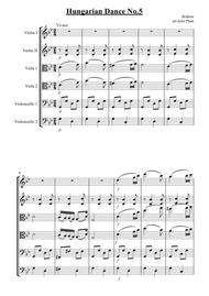 Brahms: Hungarian Dance No.5 for String Sextet - Score and Parts