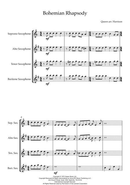 Bohemian Rhapsody - Saxophone Quartet