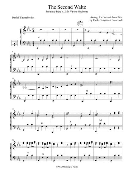 Download The Second Waltz Sheet Music By Dmitri Shostakovich