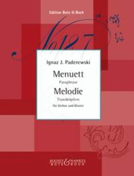 Menuet and Melody op. 14/1, op.16/2