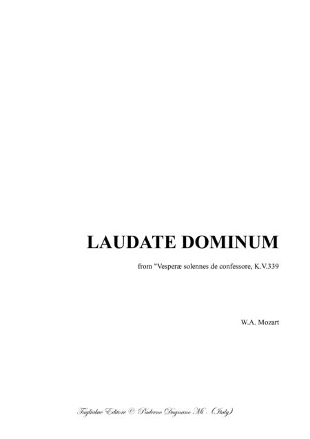 LAUDATE DOMUNIM - Mozart - For Soprano, SATB Choir and Piano - With Piano part