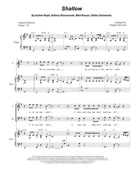 Shallow (for SATB)