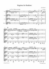 Ragtime for Bedtime (for Clarinet Quartet - score & parts)