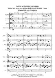 What A Wonderful World for String Quartet - Score and Parts