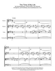 (I've Had) The Time Of My Life for String Quartet - Score and Parts