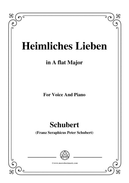 Schubert-Heimliches Lieben,Op.106 No.1,in A flat Major,for VoiceΠano